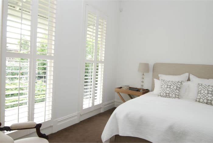 Bedroom with plantation Shutters
