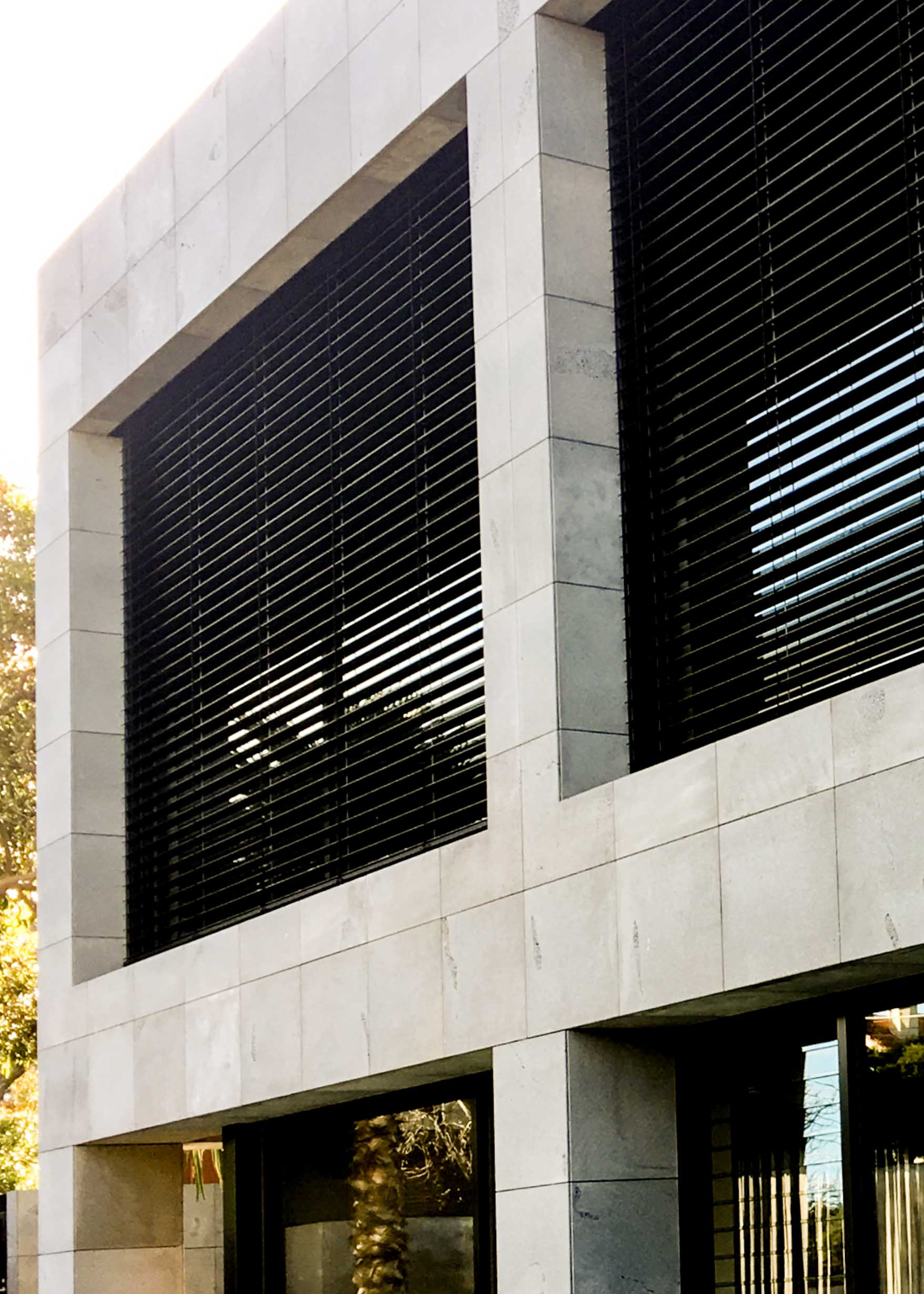 Recessed external venetians Melbourne