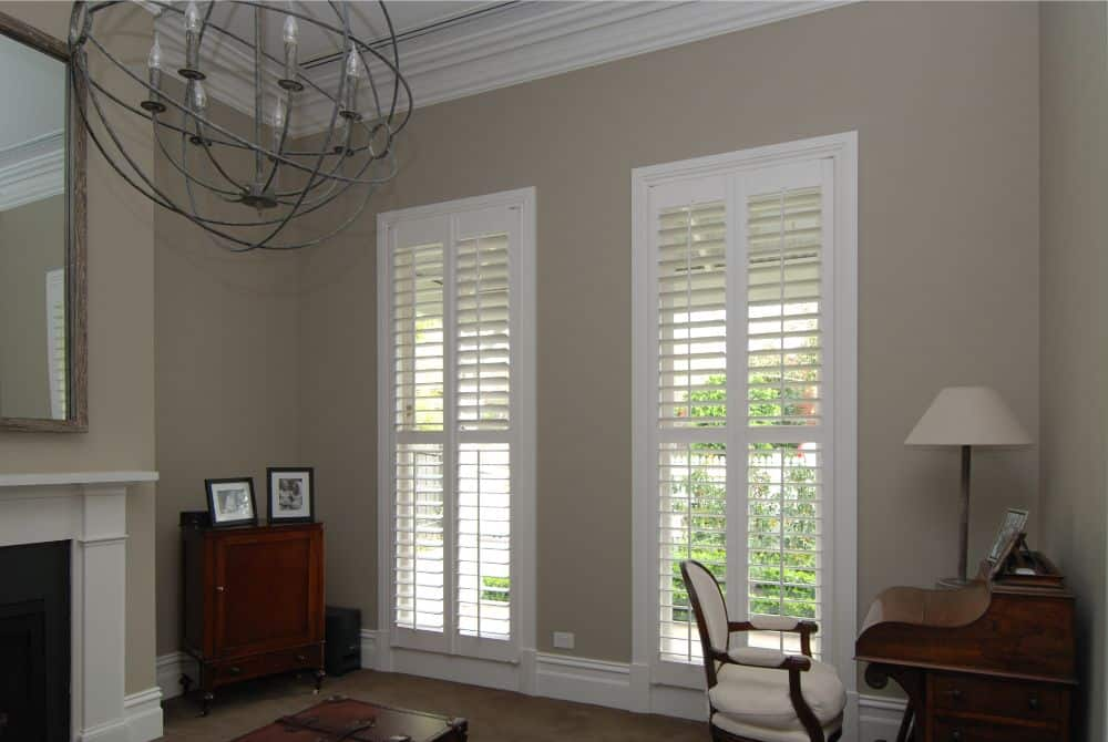 Plantation Shutters in period home loungeroom