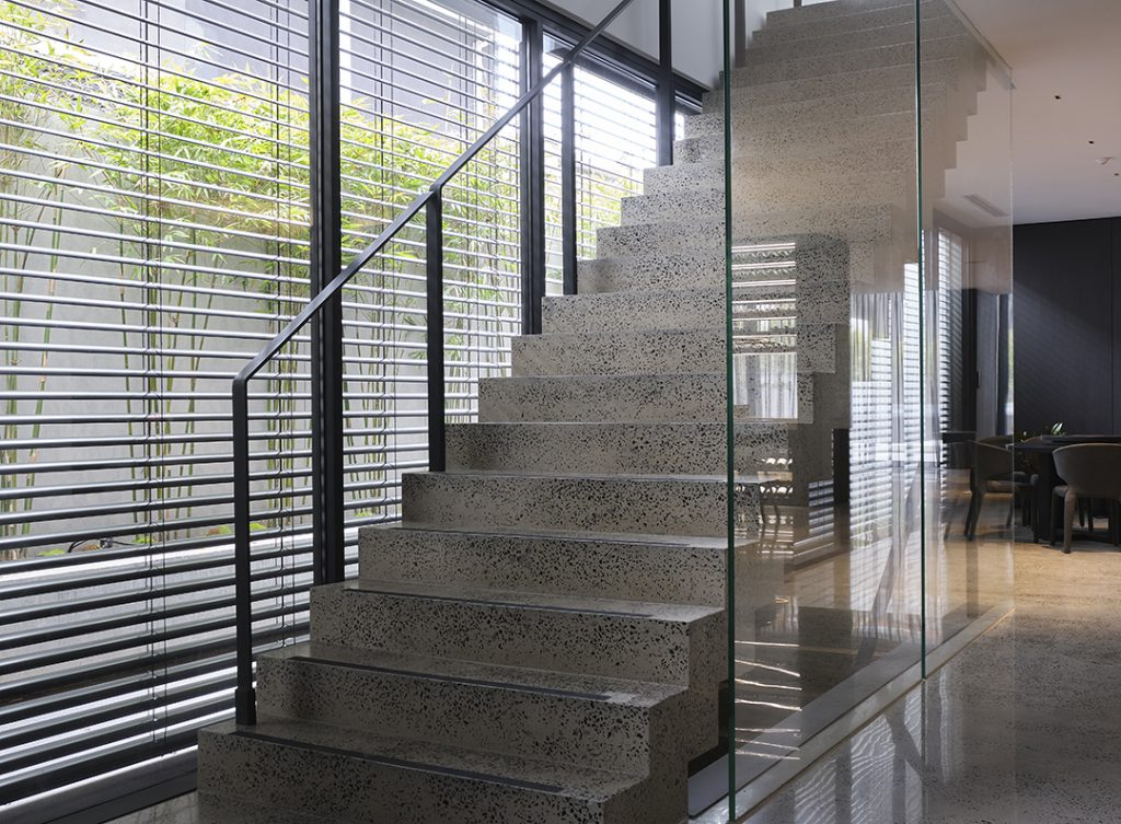 Energy efficient home design using External Venetian Blinds providing filtered light and reduce heat transfer into your home