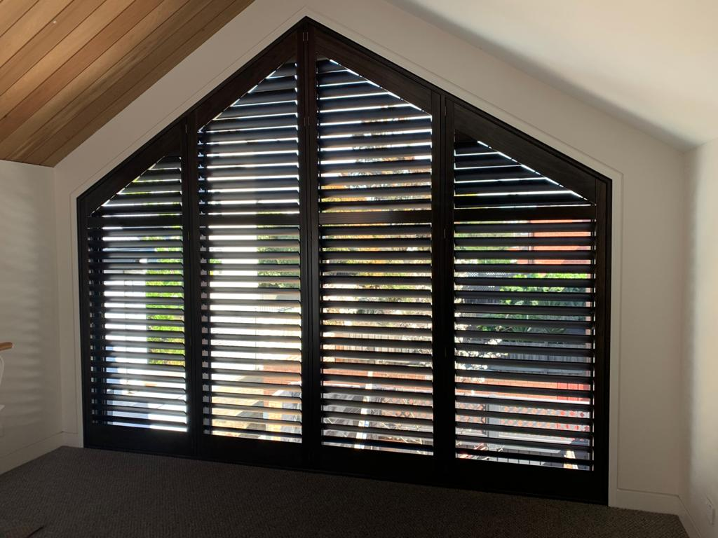 Plantation Shutters in angled window